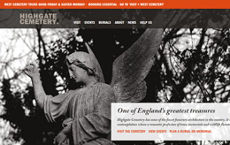 Link to the Friends of Highgate Cemetery web site