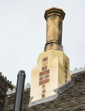 Repairs to chimneys. Select the image to see a larger view