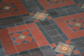 The floor tiles were cleaned. Select the image to see a larger view
