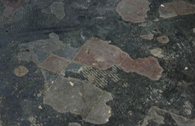 Floor tiles before restoration. Select the image to see a larger view