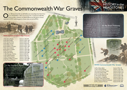 Cemetery Interpretation Panel - the Commonwealth War Graves